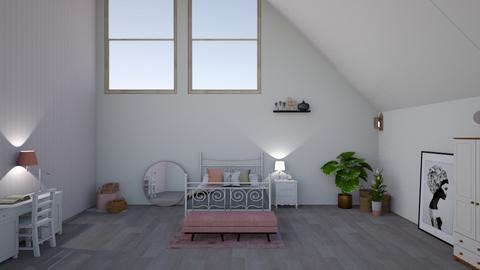 Pink Room - Bedroom - by heytheredelia