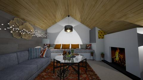 Cozy modern cottage - Modern - Living room - by HIHELLOHI