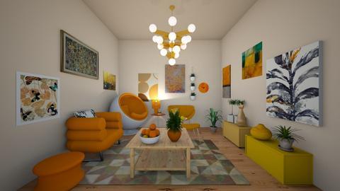 Orangish - Retro - Living room - by SpicyMcPie