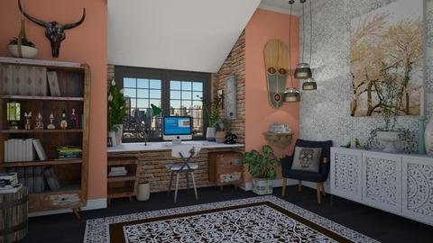 Eclectic Office - Eclectic - Office - by Nicky West