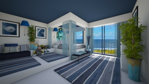 Summer Room - Glamour - Bedroom - by Joao M Palla