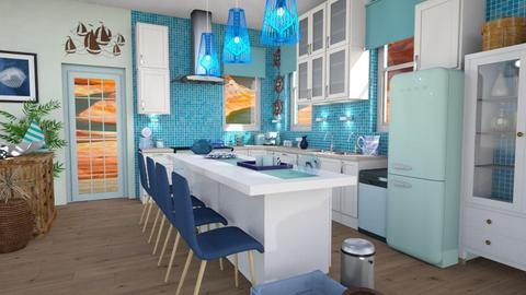 Blue sea  - Kitchen - by Moonpearl