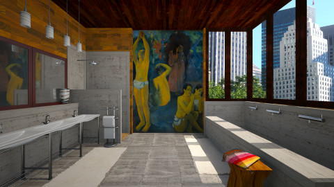 Gauguin family bath - Modern - by russ