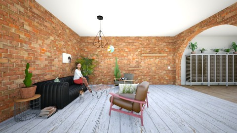 casual - Vintage - Living room - by antonija_