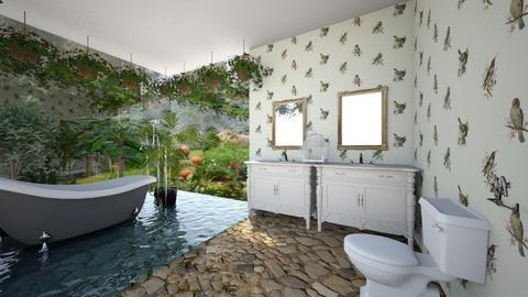 Birdbath In Paradise - Bathroom - by SammyJPili