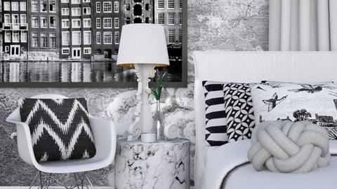 Duotone Bedroom - Modern - Bedroom - by HenkRetro1960