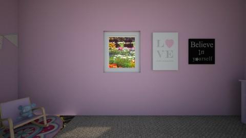 Pink Nursery Room - by avanren