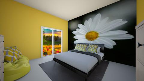 Tatianas daisy bedroom - Bedroom - by LTooth