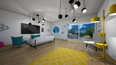 colorful living room - Living room - by czekoladkaaa123