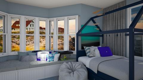 Coastal home bedroom - Kids room - by HIHELLOHI