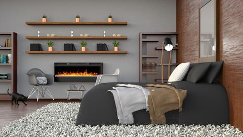 Wood and Grey - Modern - Bedroom - by millerfam