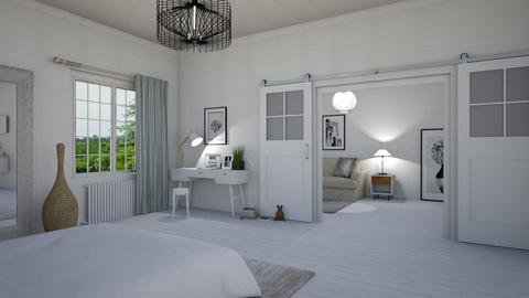 White Forever - Bedroom - by Val Val