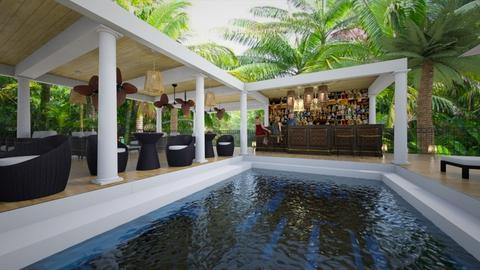tropical bar - by rickglassinteriors