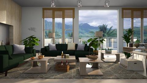 Palm Scenery - Living room - by ZuzanaDesign