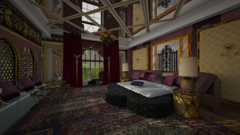 Bedroom 6 - Rustic - Bedroom - by ZsuzsannaCs