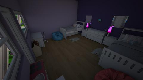 Double Girls Room - Kids room - by Happy Sloth
