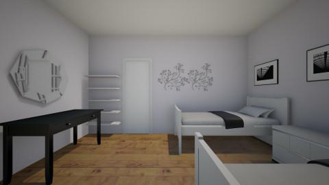 lavender bedroom - Bedroom - by Gitty5454