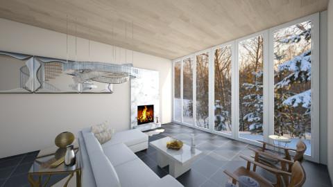 Winter Wonderland - Living room - by homeiswheredesignis
