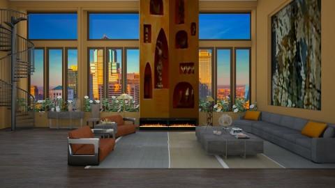 Derek Flint - Retro - Living room - by Elena68