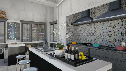 Black - Eclectic - Kitchen - by AlSudairy S