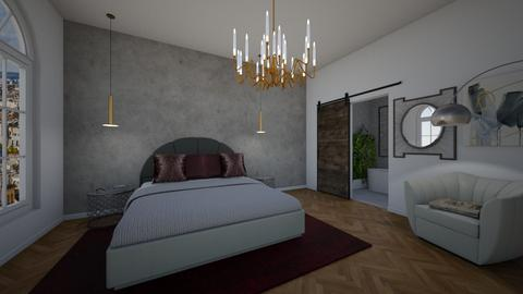 Concrete Elegance - Bedroom - by Ginntare