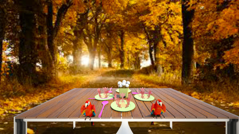 Table for one - Country - Garden - by Olivia Gigliotti