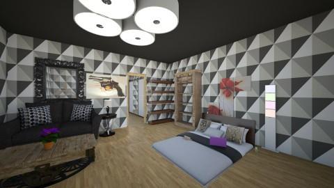 Floor bed bedroom vintage - Vintage - Bedroom - by Molly_girl