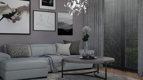 November grey - Living room - by Tuija
