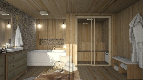 wood bath - Bathroom - by bohdalkovakata