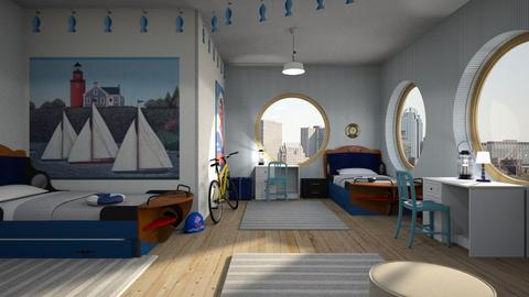 nautical bedroom - Bedroom - by ClaraBart