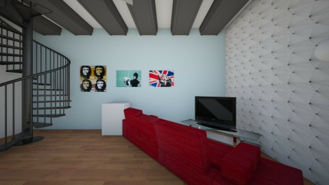 Justin B Penthouse - Living room - by LeahGunsser