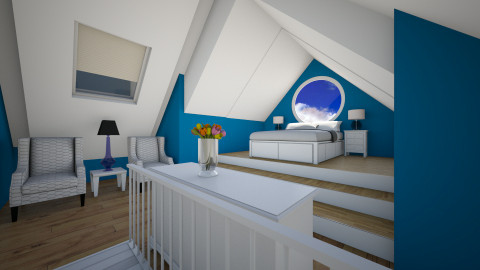 Attic Guest Room - Minimal - Bedroom - by ANM_975