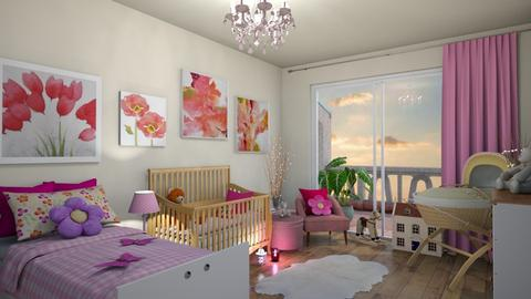 its a girl - Kids room - by mari mar