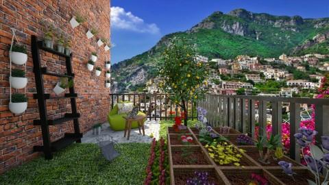 Italian Style Garden Terrace - Vintage - Garden - by bgref