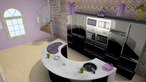 Purple Kitchen - Modern - Kitchen - by pie2296