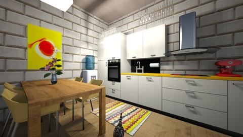 Designer kitchen - Kitchen - by Wiktoria Niewiadomska