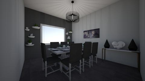 a modern dining room fam - Modern - Dining room - by jade1111
