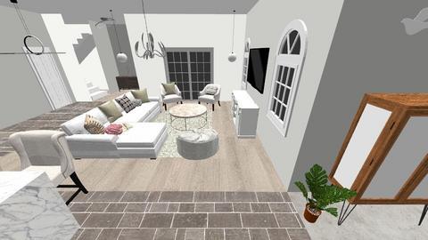 White 13 - Living room - by Niva T