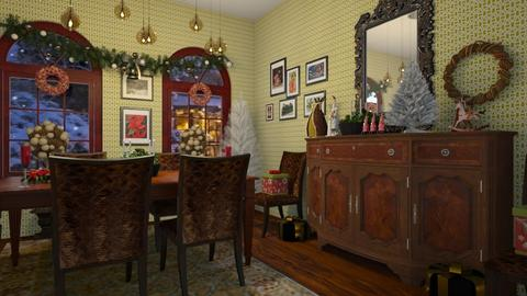 christmas dining - Dining room - by kla