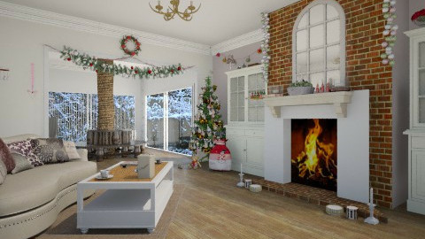 Christmas - Living room - by treacyf3