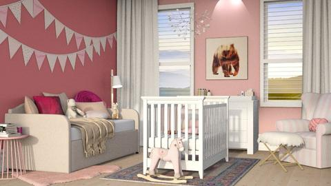 baby pink room  - Kids room - by aya abo elfetouh