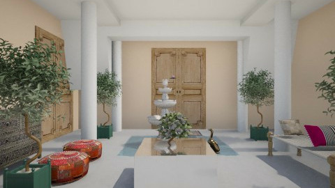 indian style foyer - by Manoor Ali