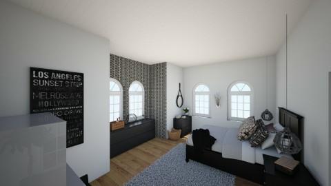 makuuhuone - Bedroom - by lumiveistos