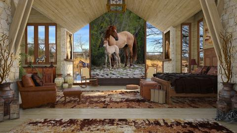 Design 427 Salt River Horses - Bedroom - by Daisy320