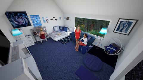 teen hangout - Bedroom - by jenniferlzippel