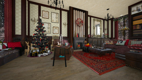 Home for Christmas - Classic - Living room - by evahassing