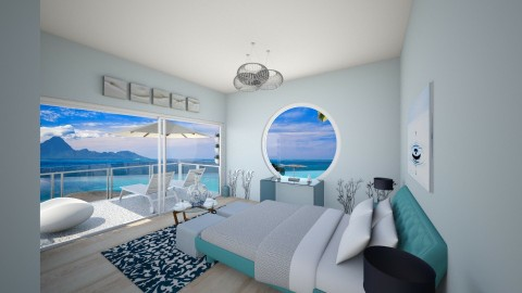 Calm blue - Bedroom - by Justine_stl