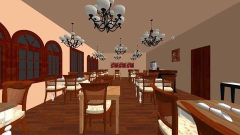 Restaurant Dining Room - by MaryamDiao