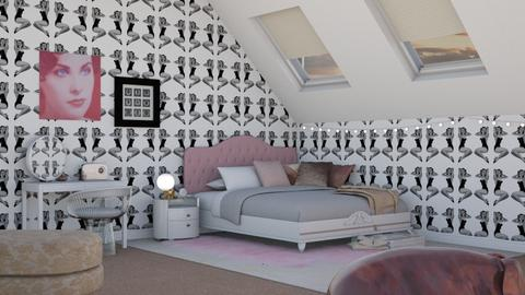 Girly Attic - Bedroom - by Tabitha Knight