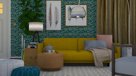 Yellow and Blue - Modern - Living room - by HenkRetro1960